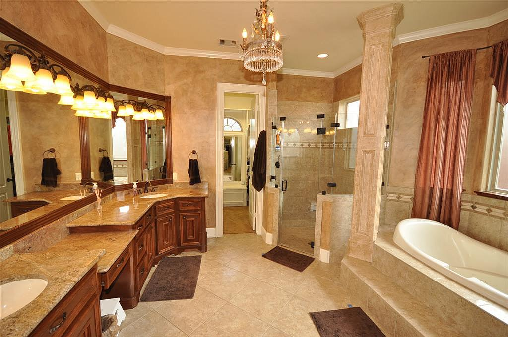 Master Bathrooms With Closets bath with her closet
