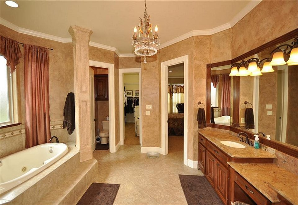 Master Bath With His Closet